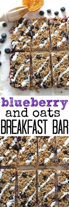 These freezable oat breakfast bars are packed with brain boosting blueberries and are super easy to make! #vegan #dairyfree