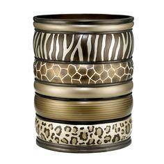 Safari Stripe Waste Basket
