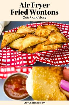 Easy Air Fryer Wontons is a quick homemade recipe loaded with cream cheese chives and green onions. This dish only requires 4 ingredients. You can enjoy this crispy fried appetizer either savory or sweet by adding crushed pineapples! Air Fryer Recipes Snacks, Air Frier Recipes, Air Fryer Dinner Recipes, Air Fryer Recipes Vegetarian, Wonton Recipes, Appetizer Recipes, Italian Appetizers, Air Fried Food, Cooking Recipes