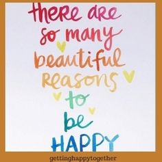 Yes indeed just focusing on those beautiful things can make your whole day!