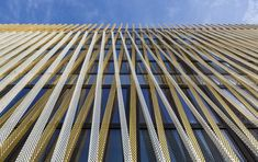 Aluminum complements wood in this office building's woven skin - Archpaper.com