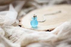 Hey, I found this really awesome Etsy listing at https://www.etsy.com/listing/225299235/teal-perfume-bottle-pendant-murano-glass