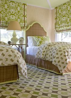 Design Trend | Decorating with an Ikat Pattern | Drapery Street | green Ikat drapes