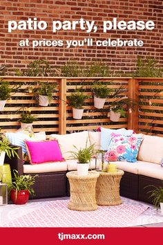 Take the party outside! Style your deck with pillows, decor & more that are so uniquely you.