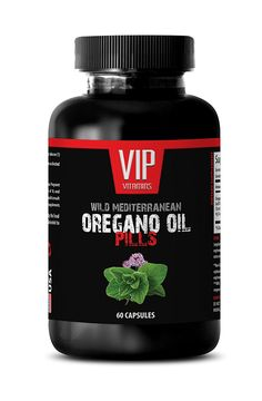 Oregano oil supplement - Wild Mediterranean Oregano Oil 1500mg - Wellness booster - 1 Bottle 60 Capsules *** Check this awesome image  : Weight Loss Herbal Supplements