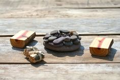 Miniature Furniture / Fairy Garden campfire set. $7.00, via Etsy.