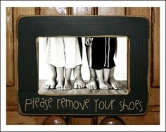 Take your shoes off! It's official! Doing this with Ryan and the boys!