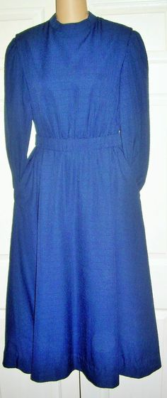 "Amish Mennonite Handmade Tall Cape Dress  Modest Homemade  38"" Bust /36"" Waist  #Handmade #Cape #Casual"