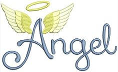 Angel Text - 2 Sizes! | What's New | Machine Embroidery Designs | SWAKembroidery.com Stitch-Ville