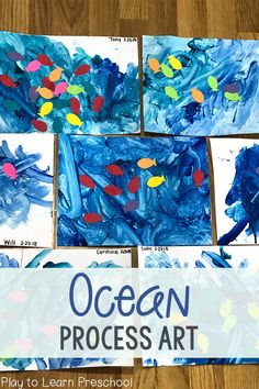 When the temperature rises, nothing sounds better than a trip to the beach! To bring the ocean indoors, cool off with this amazing Ocean Process Art activity.