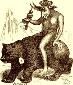 The Demon Balam as depicted in Collin de Plancy's Dictionnaire Infernal, 1863 edition.