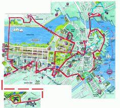 Printable Boston Tourist Map   here is a boston tourist map that ...