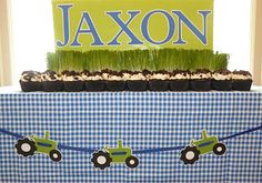 Tractor Garland. Cute. Easy.