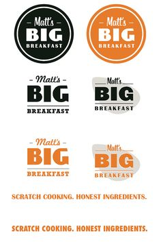Kitchen Sink Studios | Matt's Big Breakfast Logo Concepts