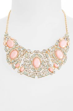 Sparkling pastel bib necklace = perfect statement piece.