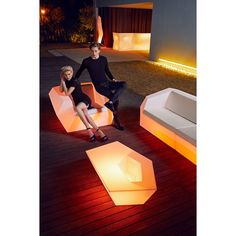 FAZ Coffee Table, Outdoor Lighted Furniture Design at Cassoni.com