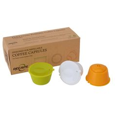 3pcs/set Dolce Gusto Refillable Coffee Capsules