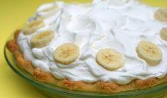 La deliciosa receta para la tarta de crema de plátano.