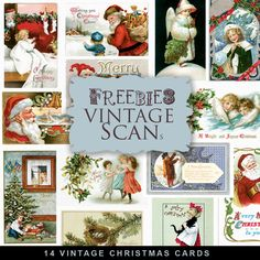 Vintage Christmas Postcards | ... vintage christmas cards and see my others vintage freebies enjoy