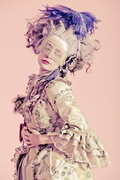 versailles ball - love the purple feathers! I want to go to a masked 18th century ball. Anyone hosting?