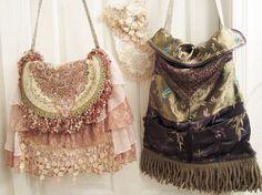 Boho Gypsy Tapestry Bag Vintage French by VintageVelvetGypsy