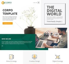 Corpo is an eye-catching and easy-to-use PSD web template, designed by Templates Craze. Corpo is. Commercial, Advertising, Templates, Eye, Business, Creative, Projects, Design, Log Projects