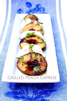 Grilled Peach Caprese Salad Recipe | Grilled Peach Caprese is a delightful way to enjoy juicy summer peaches and fresh mozzarella! It's a healthy and gluten free summer salad that you will love. | Via LivelyTable.com @Lively Table