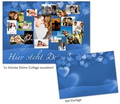 Fotocollage Blue quer