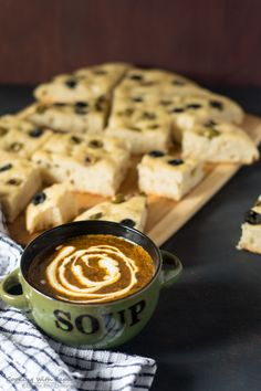 Olive focaccia with roasted tomato