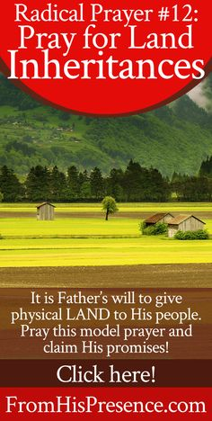 How to pray for land inheritances | Prayer | Faith
