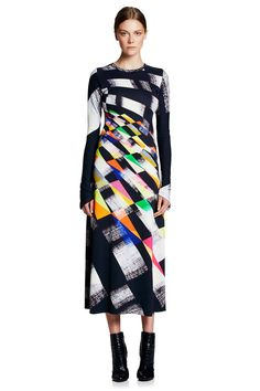 Geometric Abstraction Maxi Dress Manning Cartell