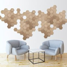 Wood tiles for wall decor, make your own composition