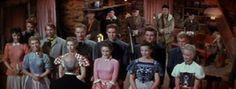 """Sette spose per sette fratelli  Un film di Stanley Donen. Con Jane Powell, Howard Keel, Jeff Richards, Russ Tamblyn, Tommy Rall. continua» Titolo originale """"Seven Brides for Seven Brothers"""". Commedia musicale, durata 103' min. - USA 1954"""