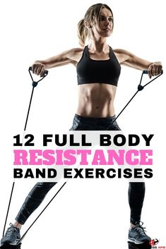 12 Full Body Workout with Resistance Bands - Resistance band exercises offer a great all-in-one workout for glutes, for arms, for legs, for abs, for b Getting Back In Shape, Get In Shape, Resistance Band Ab Workout, Exercises With Resistance Bands, Exercises With Bands, Stretch Band Exercises, Stretching Exercises, Arm Workout With Bands, Workout Bauch