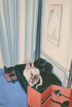 Emilio Vilà (1887–1967) Date : 1925 Technique : Fusain et aquarelle sur papier.
