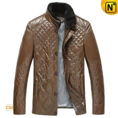 Fitted Quilted Leather Jacket for Men CW804078 $678.89 - www.cwmalls.com