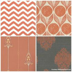 Copper Orange wallpapers from wallpaper direct Widenor Chevron Romo Suvi Gamla Grand Duro Naturale Damask Albany Copper Blush, Copper And Pink, Orange Wallpaper, Home Wallpaper, Wallpaper Direct, Wall Colors, House Colors, Paint Colors, Colour Schemes