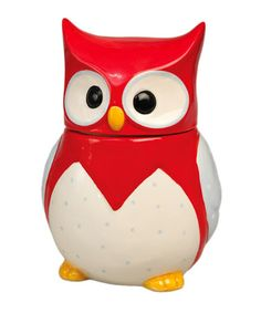 Red Owl Ceramic Cookie Jar by Home Treats from Rex on #zulilyUK today!