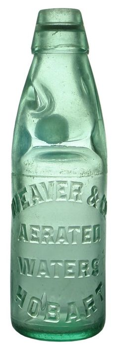 Auction 27 Preview   20   Weaver Aerated Waters Hobart Pinnacle Codd Marble Bottle