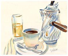 2012我要好好的画画,绘出最美味的 Paris breakfast,Food illustration - artist study , How to Draw Food, Artist Study Resources for Art Students, CAPI ::: Create Art Portfolio Ideas at milliande.com , Inspiration for Art School Portfolio Work, Food, Drawing Food, Sketching, Painting, Art Journal, Journaling, illustration