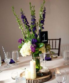 Centros de mesa para bodas con botellas: fotos ideas - Centros de mesa composiciones de botella y madera