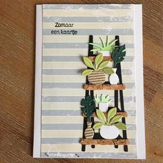 Paper Cards, Diy Cards, Marianne Design Cards, Bloom Where You Are Planted, Plant Illustration, Paper Crafting, Cactus Plants, Flower Pots, House Warming