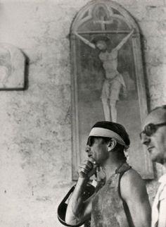 Pier Paolo Pasolini sul set del film Il Decameron, 1971