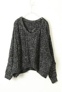 The perfect slouchy sweater.  Wear it with loose pale blue jeans and converse for a casual look.  Or dress it up with dark skinny jeans and a pair of black high heels.