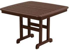 """Polywood NCT44MA Nautical 44"""" Dining Table Mahogany Finish"""