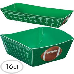 Football Field Paper Food Trays 16ct - Party City