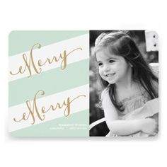 Merry Merry - Holiday Photo Greeting Card