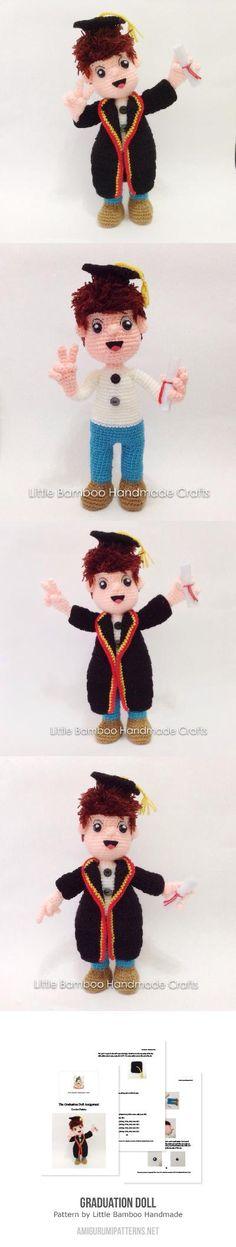 Graduation Doll amigurumi pattern by Little Bamboo Handmade
