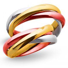 Obrączki żółto-biało-czerwone 6mm - O3K/014