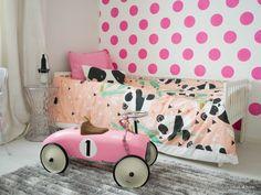 Coconut White: Moshi Moshi Kids Panda Garden-lakanat ja tyyny